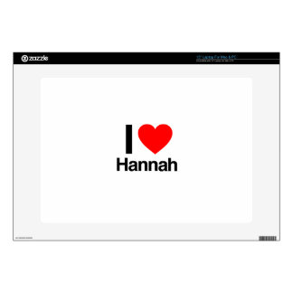 "i love hannah decals for 15"" laptops"