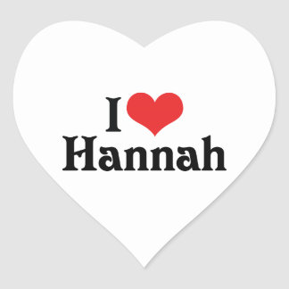 I Love Hannah Heart Sticker
