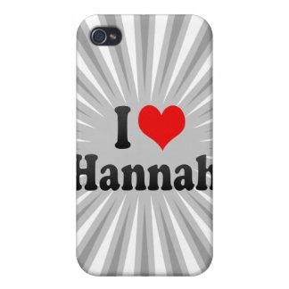 I love Hannah iPhone 4/4S Covers