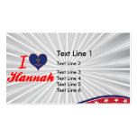 I Love Hannah, North Dakota Double-Sided Standard Business Cards (Pack Of 100)