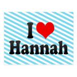 I love Hannah Post Card