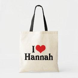 I Love Hannah Tote Bag