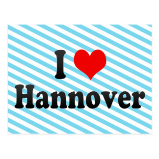 I Love Hannover, Germany Postcard