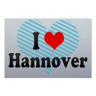 I Love Hannover, Germany Print
