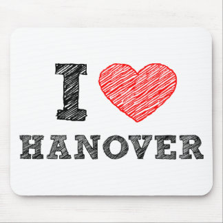 I Love Hanover Mouse Pad