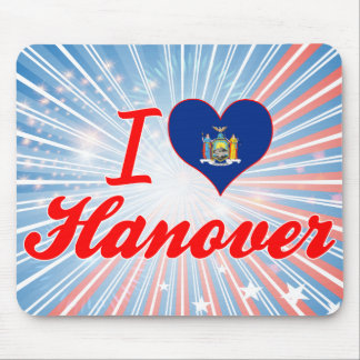 I Love Hanover New York Mouse Pads