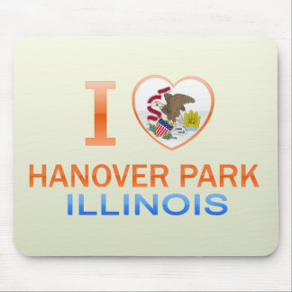 I Love Hanover Park IL Mousepads