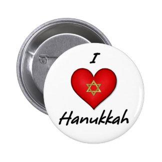 I Love Hanukkah Pin
