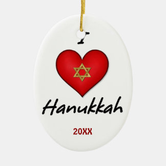 I Love Hanukkah Ornaments