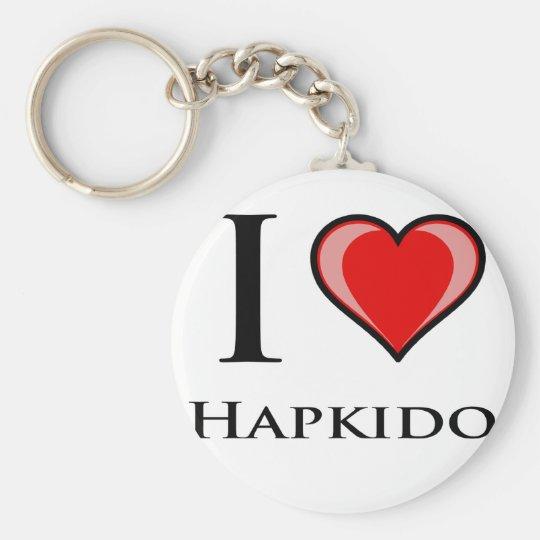 I Love Hapkido Keychain