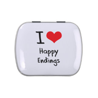 I love Happy Endings Candy Tin