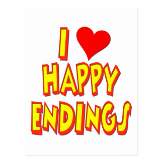 I Love Happy Endings Postcard