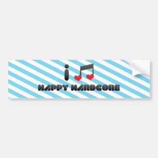 I Love Happy Hardcore Bumper Sticker