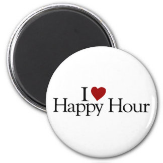 I Love Happy Hour 2 Inch Round Magnet