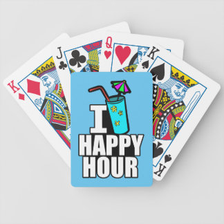 I Love Happy Hour Bicycle Playing Cards