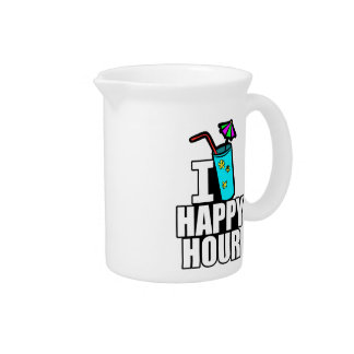 I Love Happy Hour Drink Pitcher