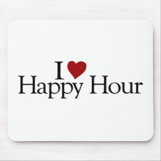I Love Happy Hour Mouse Pad