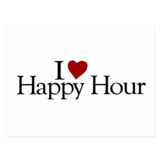 I Love Happy Hour Postcard