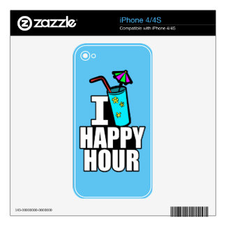 I Love Happy Hour Skin For The iPhone 4S