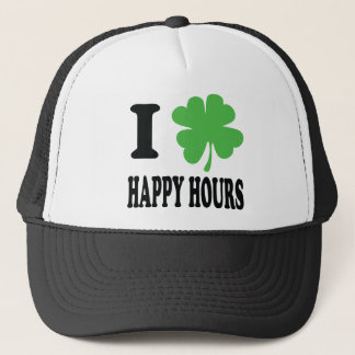 I love happy hours icon trucker hat