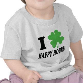 I love happy hours icon t shirts