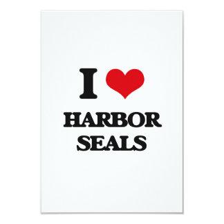 I love Harbor Seals 3.5x5 Paper Invitation Card