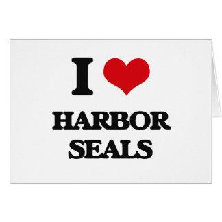 I love Harbor Seals Cards