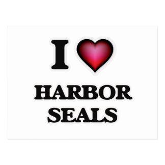 I Love Harbor Seals Postcard