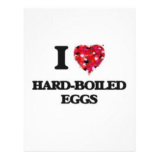 """I Love Hard-Boiled Eggs 8.5"""" X 11"""" Flyer"""