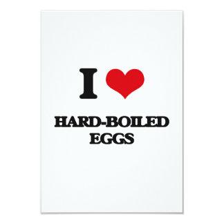 """I love Hard-Boiled Eggs 3.5"""" X 5"""" Invitation Card"""