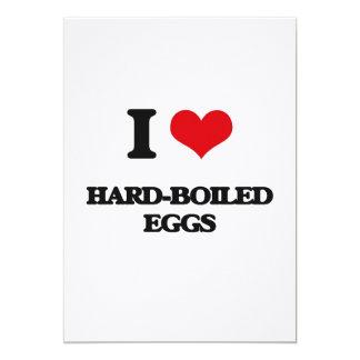 """I love Hard-Boiled Eggs 5"""" X 7"""" Invitation Card"""