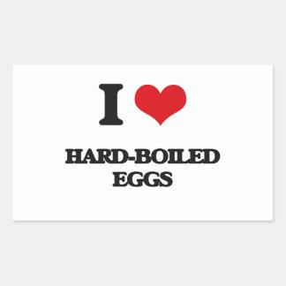 I love Hard-Boiled Eggs Rectangular Sticker