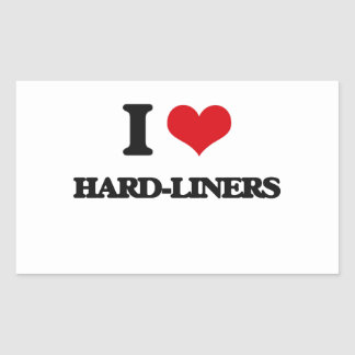 I love Hard-Liners Rectangle Stickers
