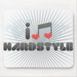 I Love Hardstyle Mouse Pads