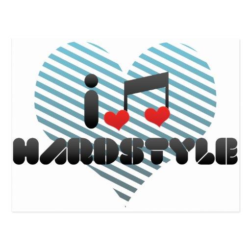 I Love Hardstyle Postcard