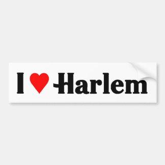 I love harlem bumper sticker