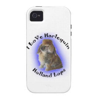 I Love Harlequin Holland Lops iPhone 4/4S Case