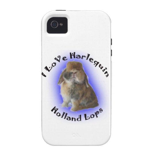I Love Harlequin Holland Lops Vibe iPhone 4 Case