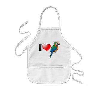 I Love Harlequin Macaws Apron