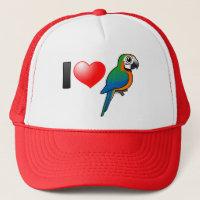 I Love Harlequin Macaws Trucker Hat