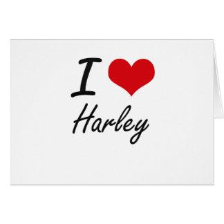 I Love Harley artistic design Stationery Note Card