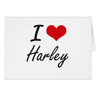 I Love Harley Stationery Note Card