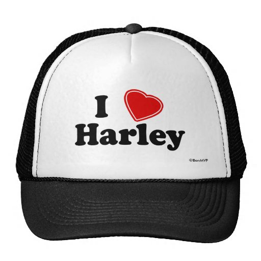 I Love Harley Trucker Hat