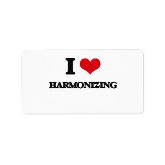 I love Harmonizing Custom Address Label