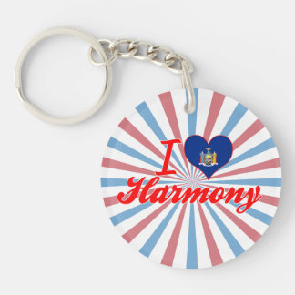 I Love Harmony, New York Single-Sided Round Acrylic Keychain