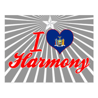 I Love Harmony, New York Postcard