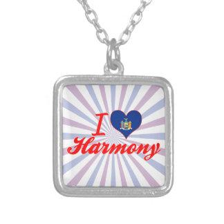 I Love Harmony, New York Square Pendant Necklace