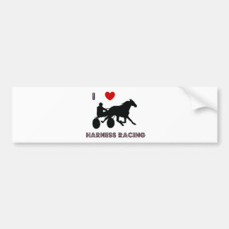 I Love Harness Racing Bumper Sticker