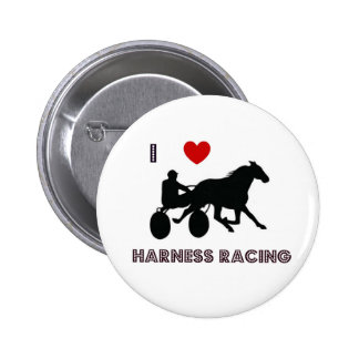 I Love Harness Racing Button