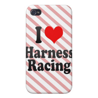 I love Harness Racing Cover For iPhone 4